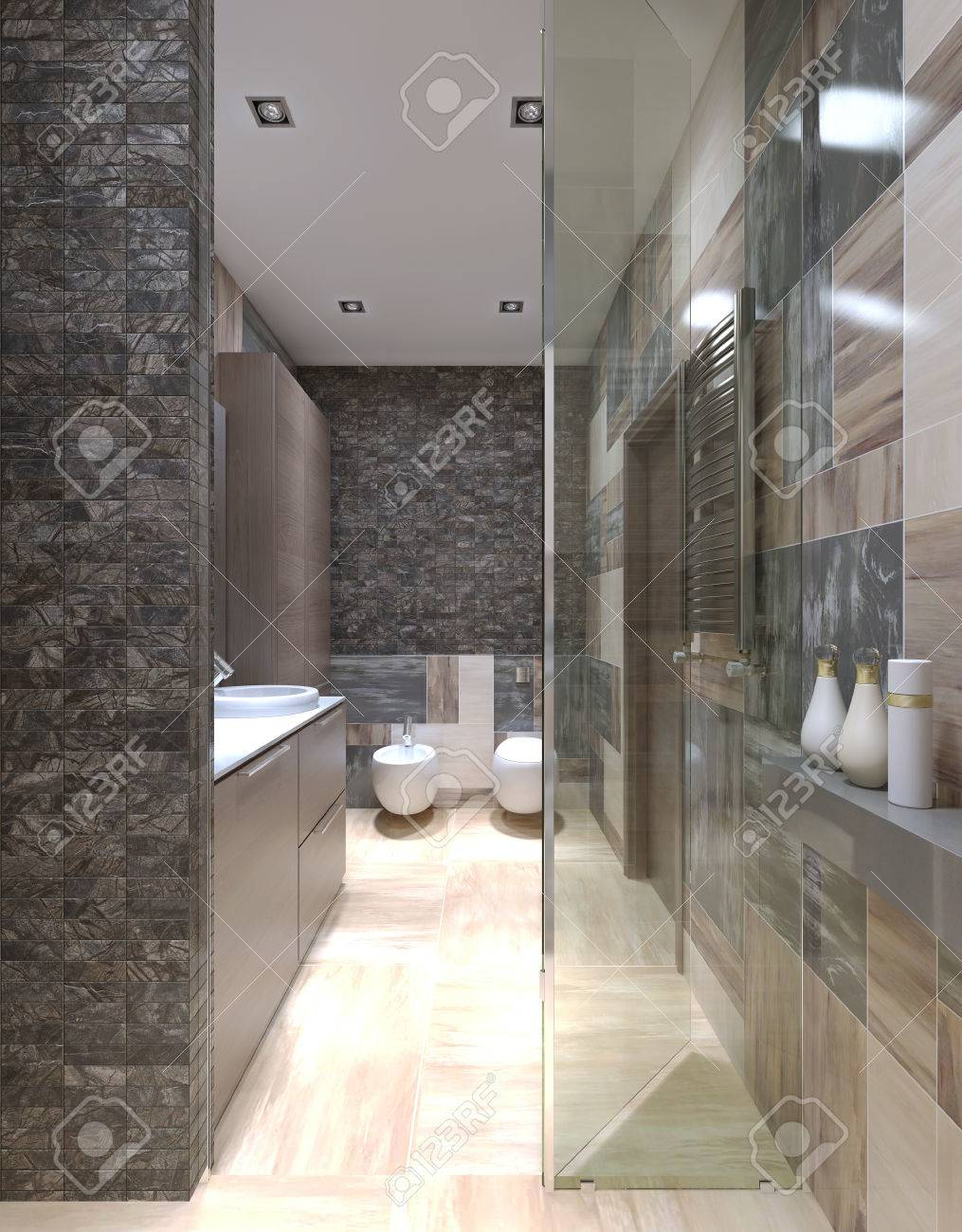 Modernes Badezimmer Design Stock Photo
