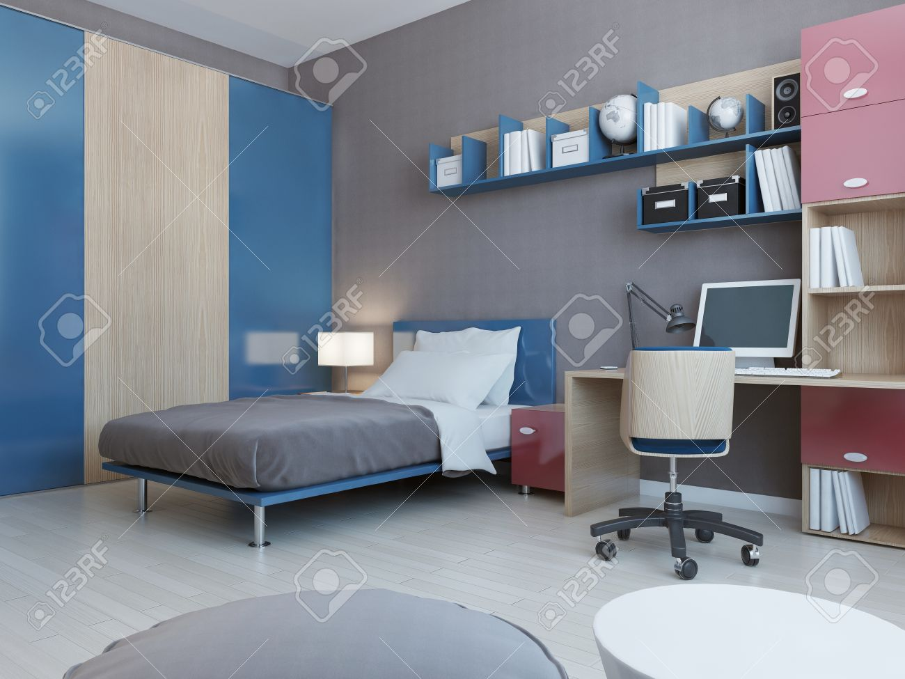 Teenager Zimmer Stock Photo