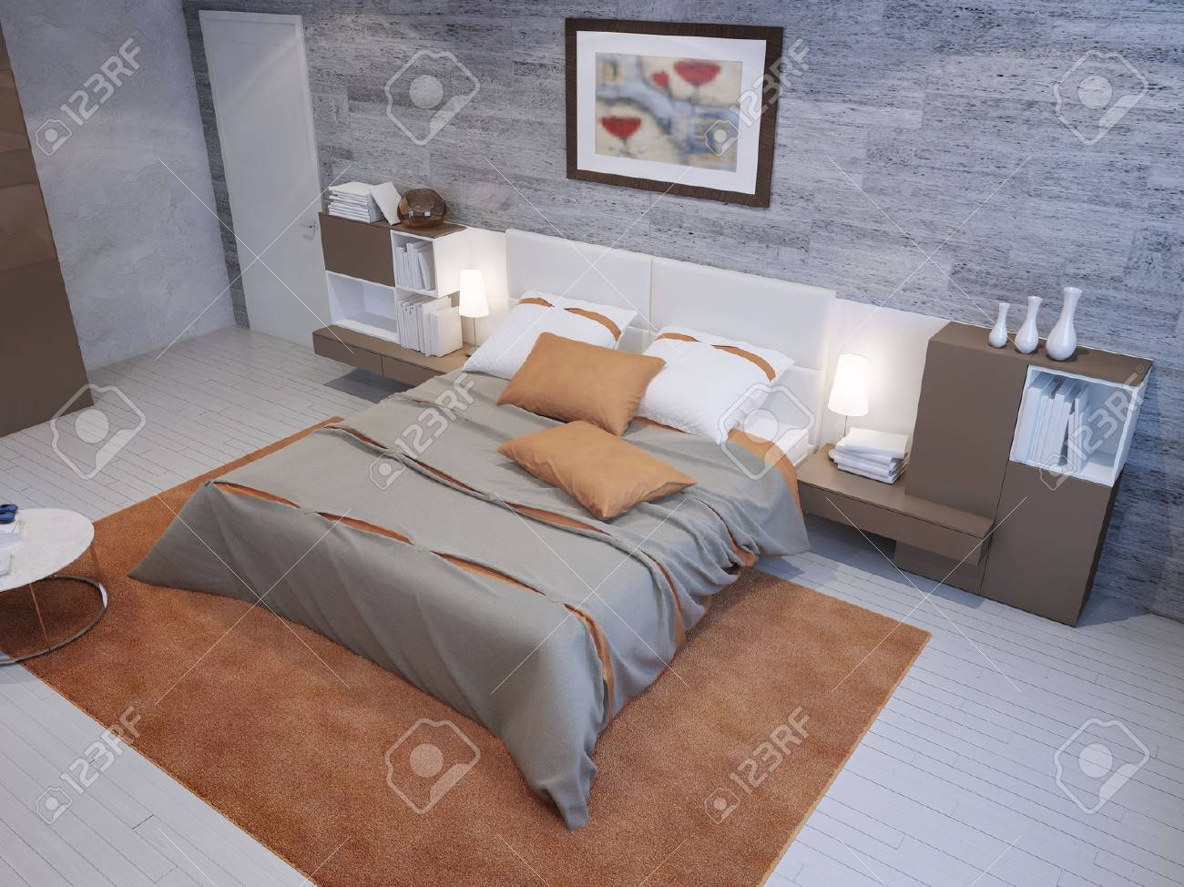 Schlafzimmer Taupe Stock Photo