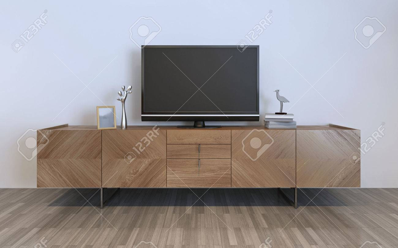 Ikea Tv Sideboard Tv Cabinet With Plasma And Decorations Brown Ikea Cabinet With