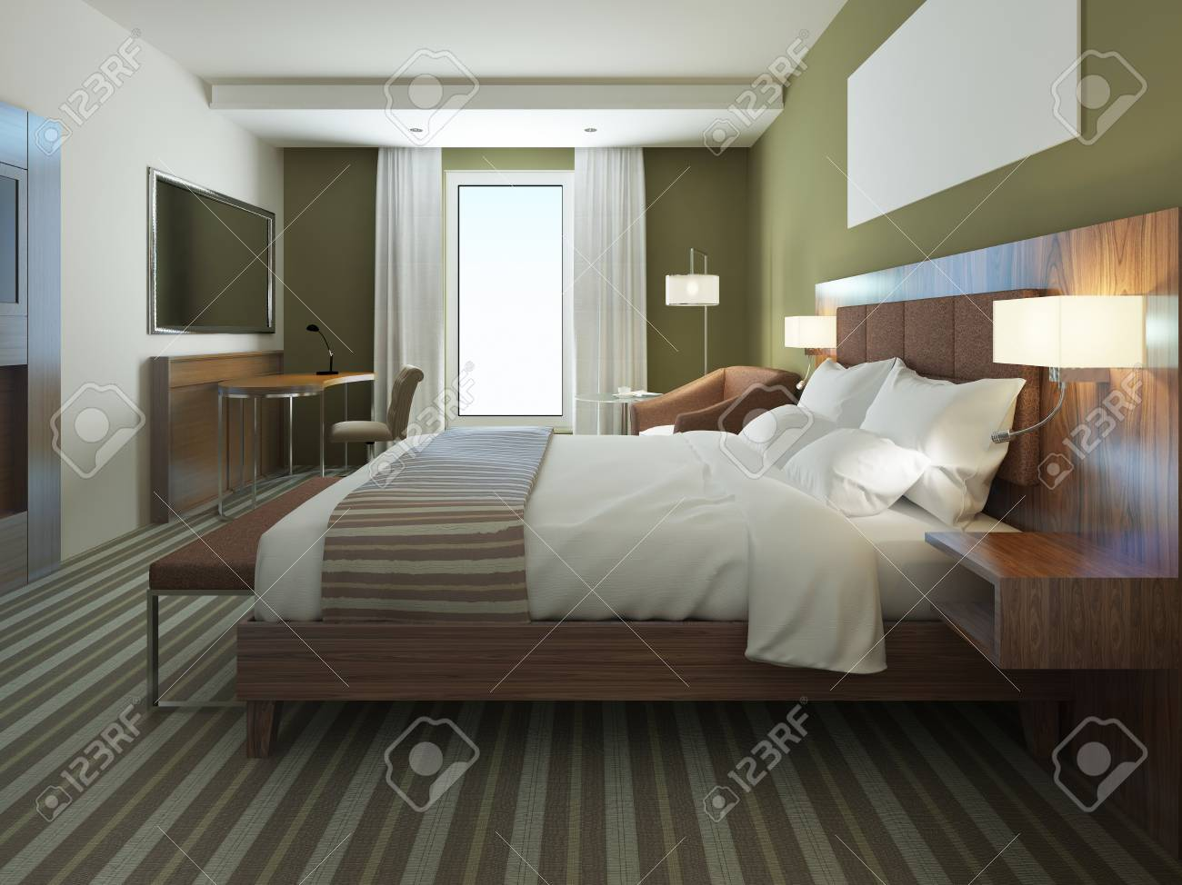 Welche Farbe Ins Schlafzimmer Stock Photo
