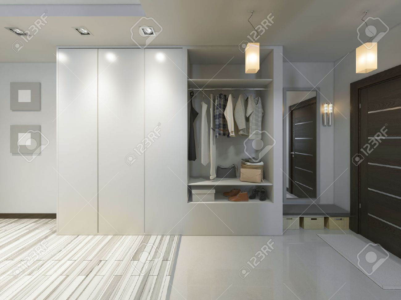 Schiebeschrank Stock Photo