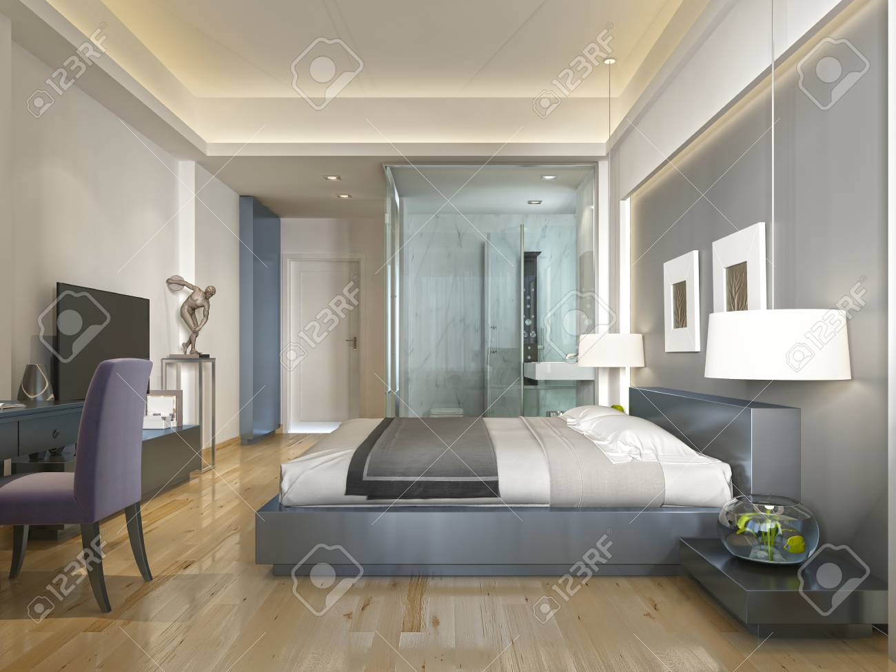 Decoration Chambre Hotel Modern Hotel Room With Large Bed Contemporary Style With Elements