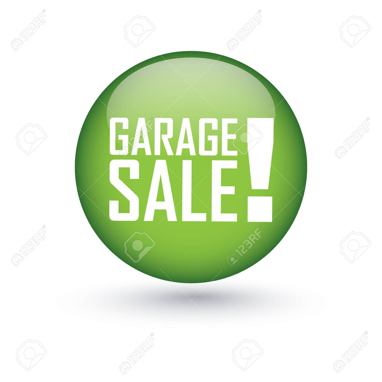 Garage Sale Price Stickers Abstract Garage Sale Label On White Background