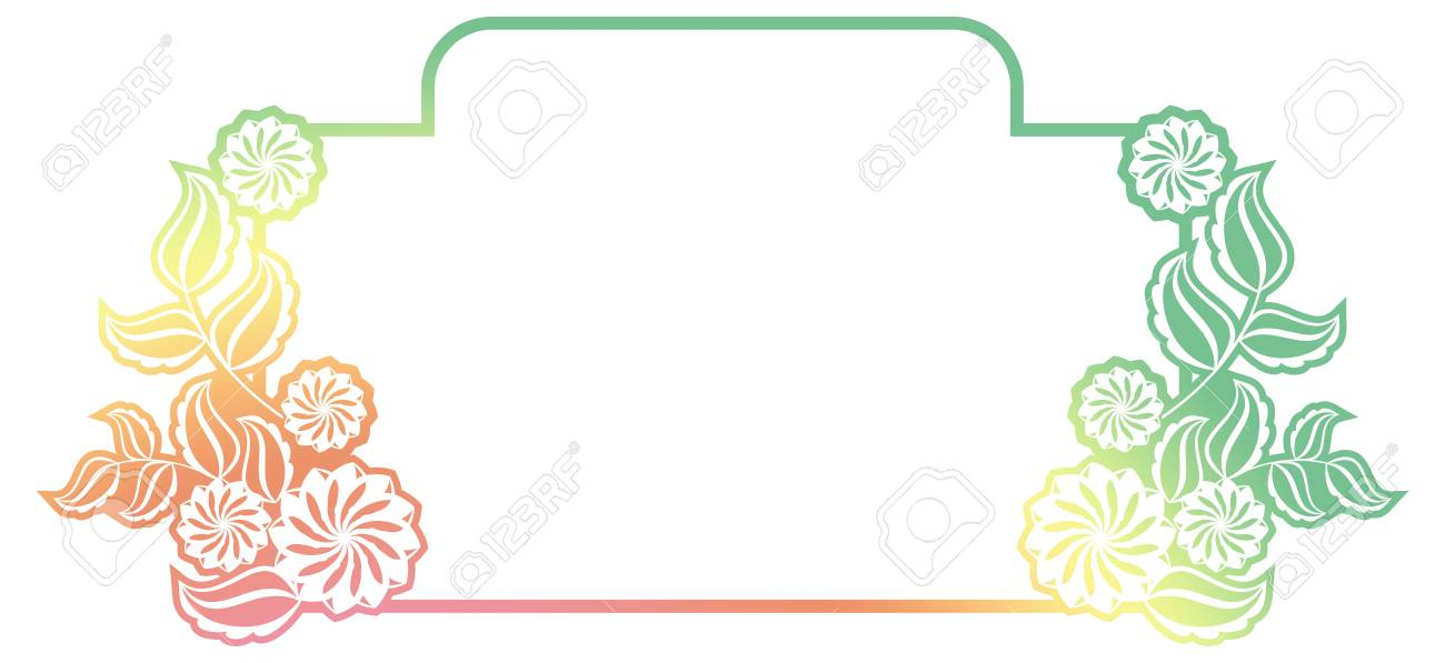 Beautiful Gradient Frame Color Silhouette Frame For Advertisements
