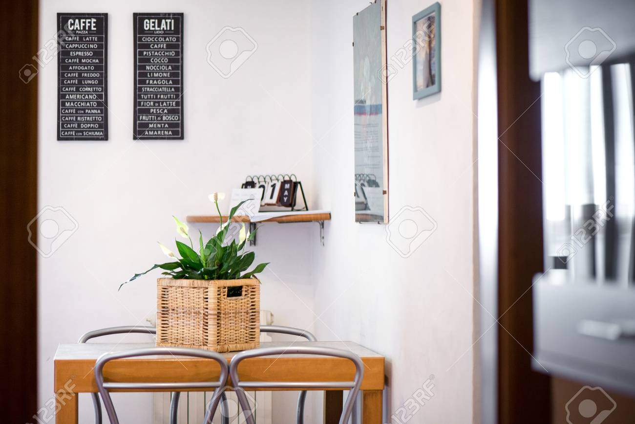 Modern Kitchen Design Elements Green Plants In A Rustic Basket In A Modern Kitchen With Stylish