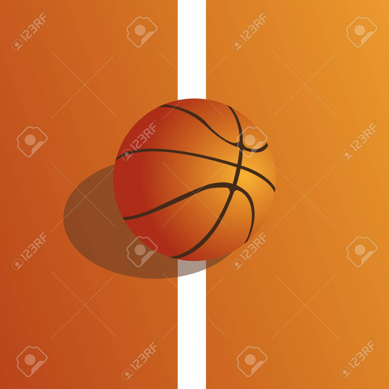 Basketball Ball A Colored Background With A Basketball Ball On The Field
