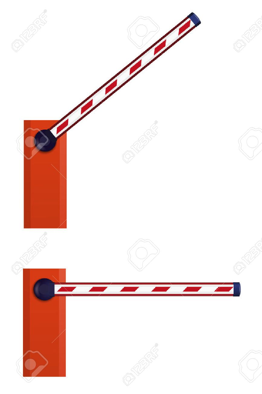 Schranke Clipart Orange Automatic Barrier