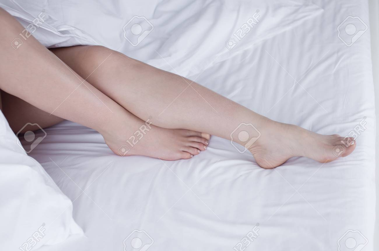 Bett Beine Stock Photo