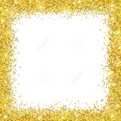 Small Crop Of Gold Glitter Border