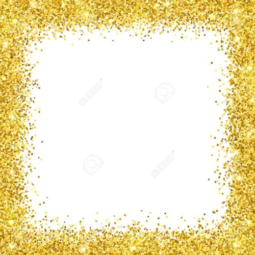 Medium Crop Of Gold Glitter Border