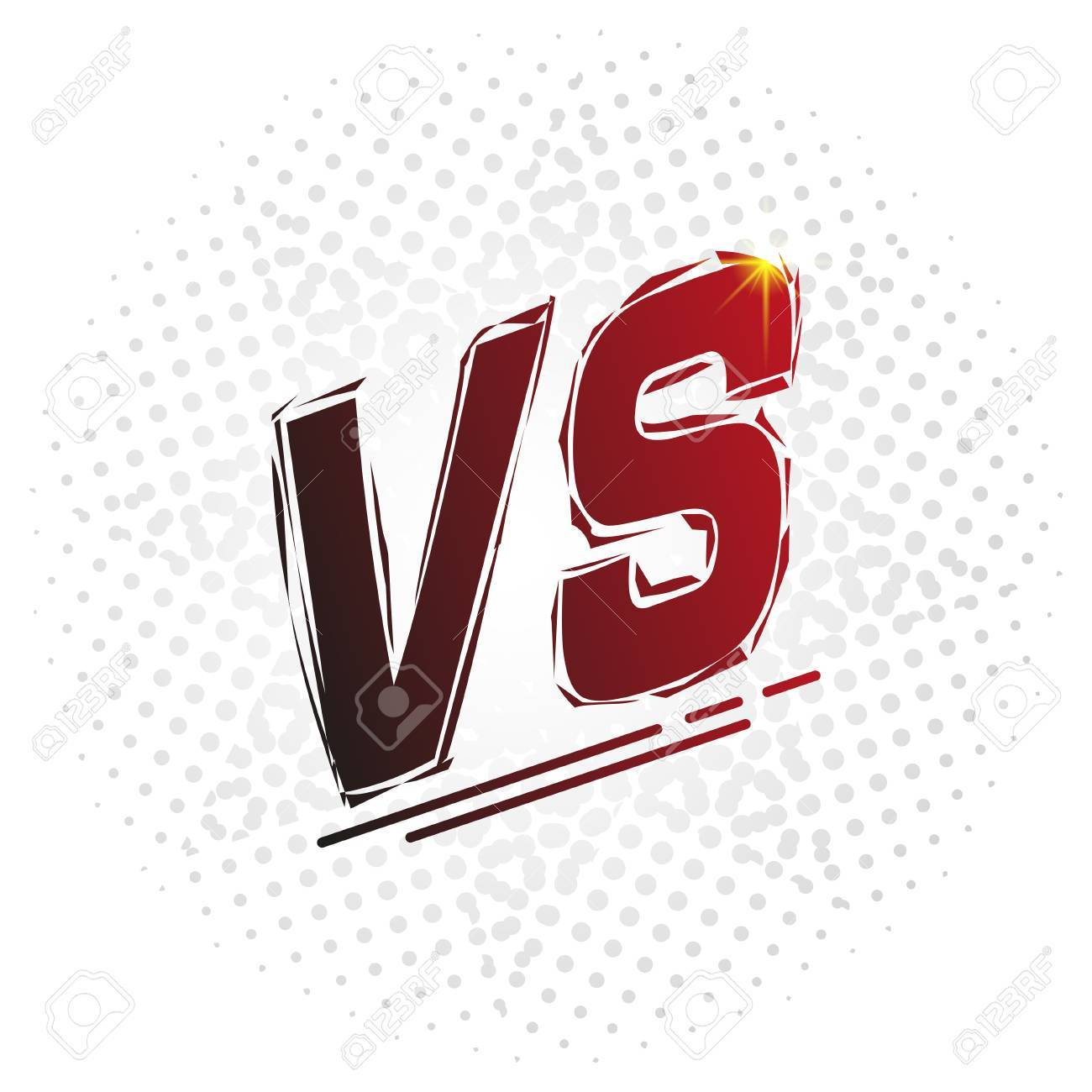 / Vs Versus Screen Vs Letters Competition Vs Match Game Martial