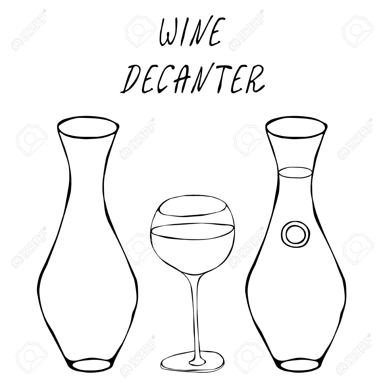 Decanter Wine Glas Alcohol Beverage Red Wine In A Decanter And Wine Glass Bar Collection