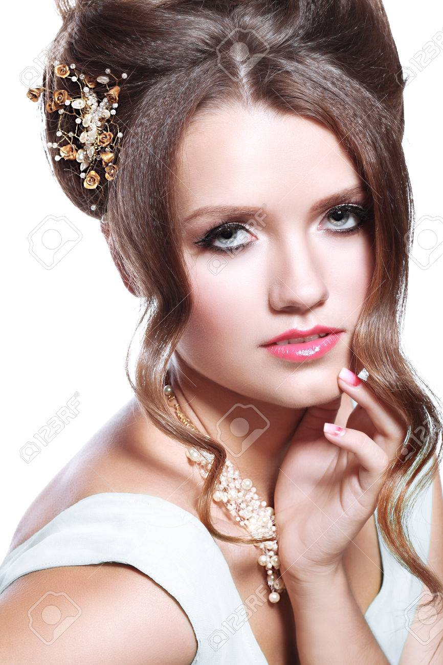 Braut Make Up Augen Stock Photo