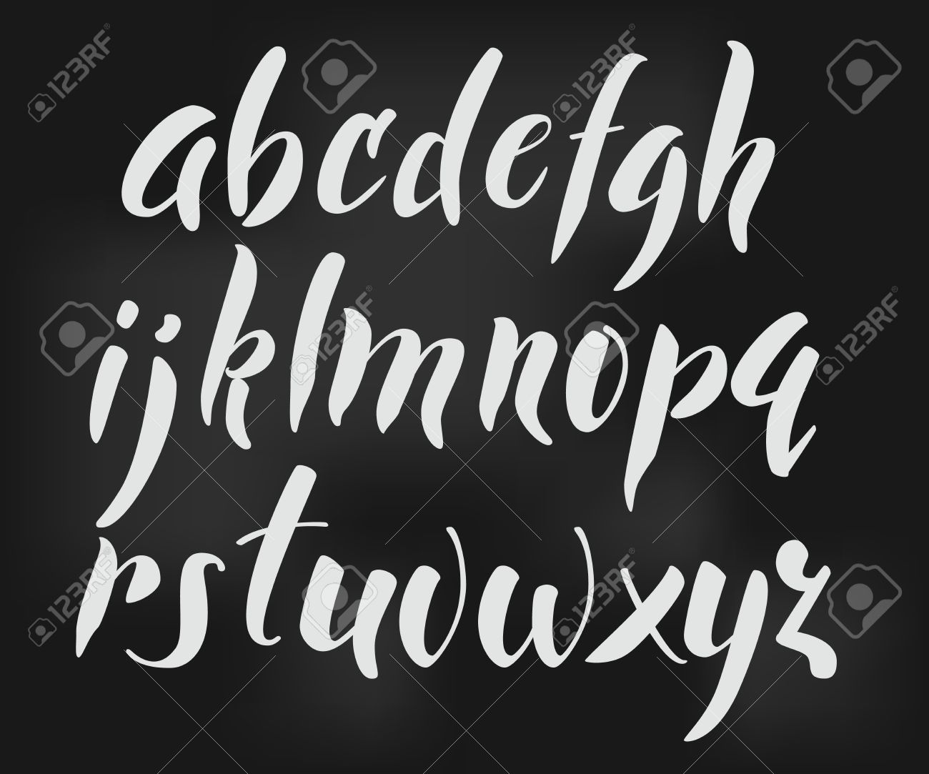 Letter In Cursive Brush Style Vector Alphabet Calligraphy Low Case Letters Cursive