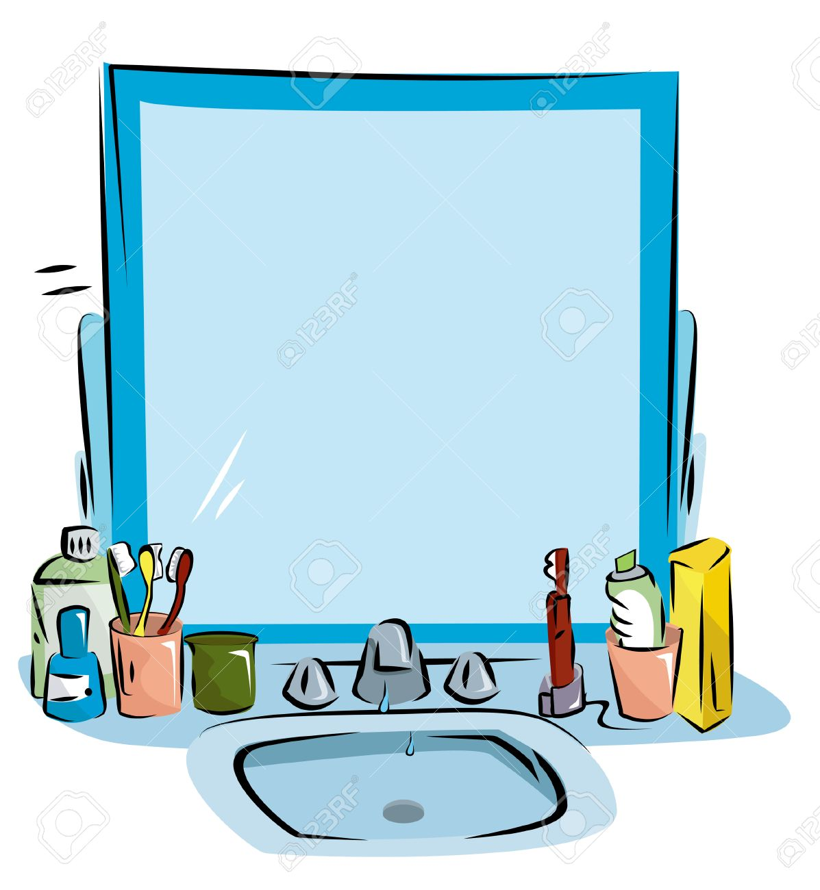 Clipart Waschbecken Bathroom Sink Background
