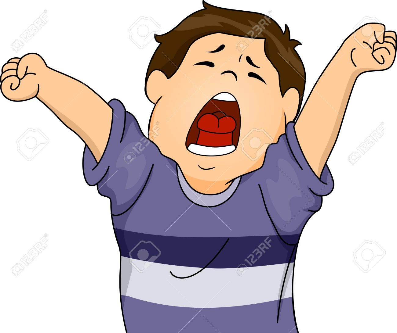 Illustration Featuring A Boy Letting Out A Big Yawn While Stretching Royalty Free Cliparts Vectors And Stock Illustration Image 33819239