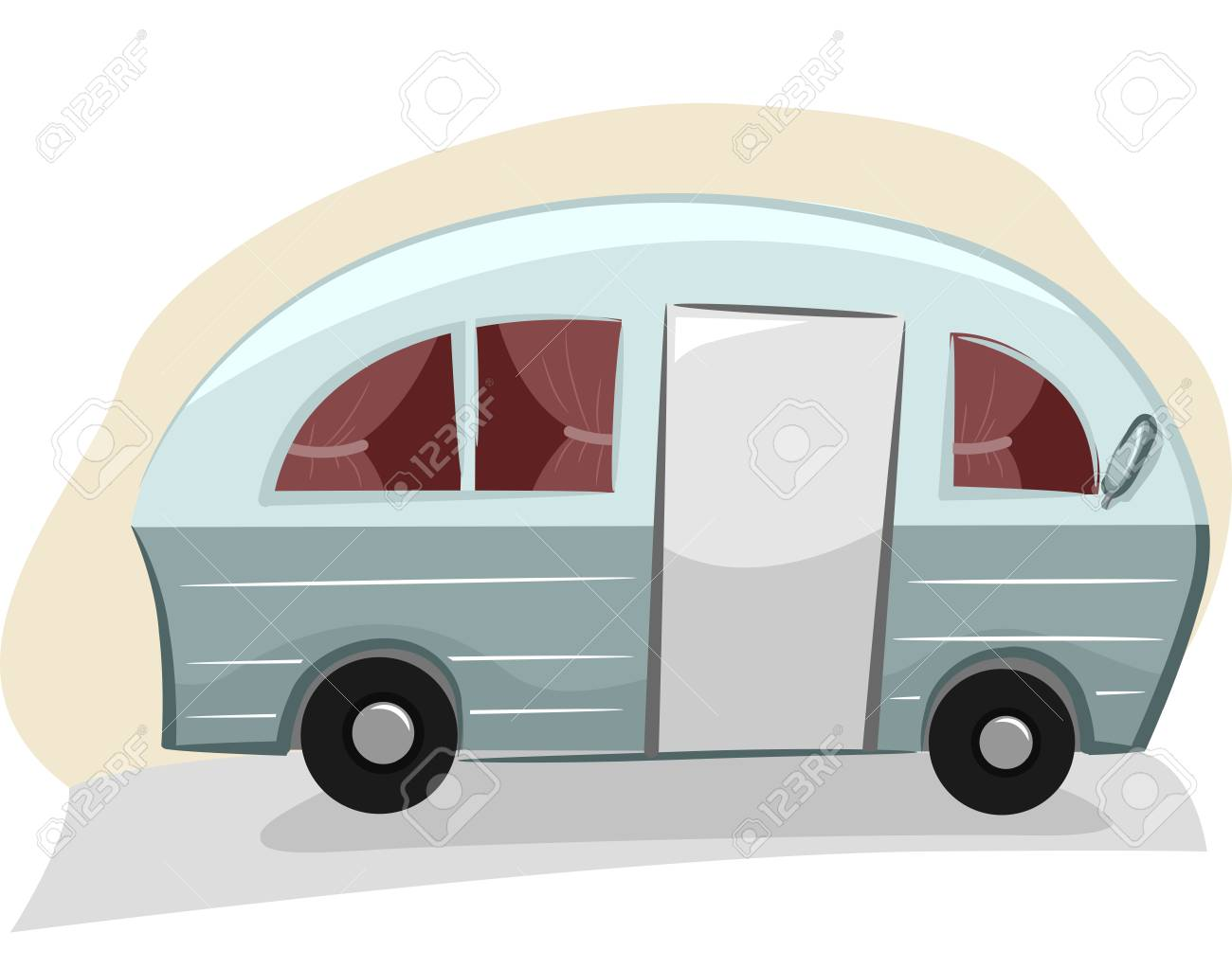 Trailer Curtains Illustration Of A Trailer Van With Visible Curtains Stock Photo