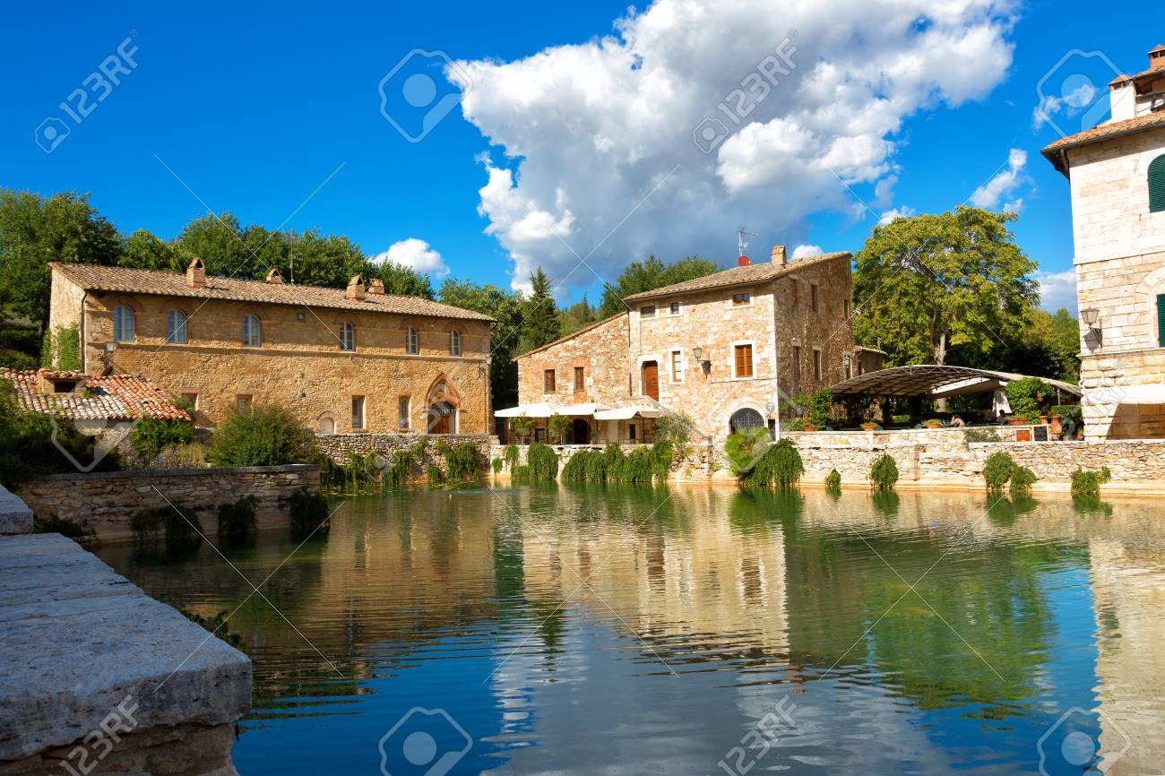 Bagno Vignoni Free Thermal Baths Old Thermal Baths In Medieval Village Bagno Vignoni In Sunny