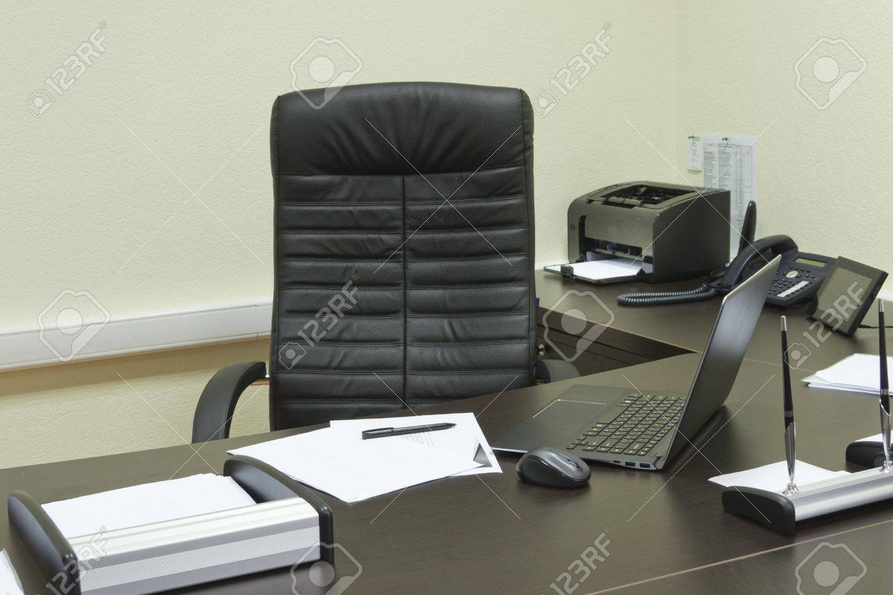 Drucker Tisch Stock Photo