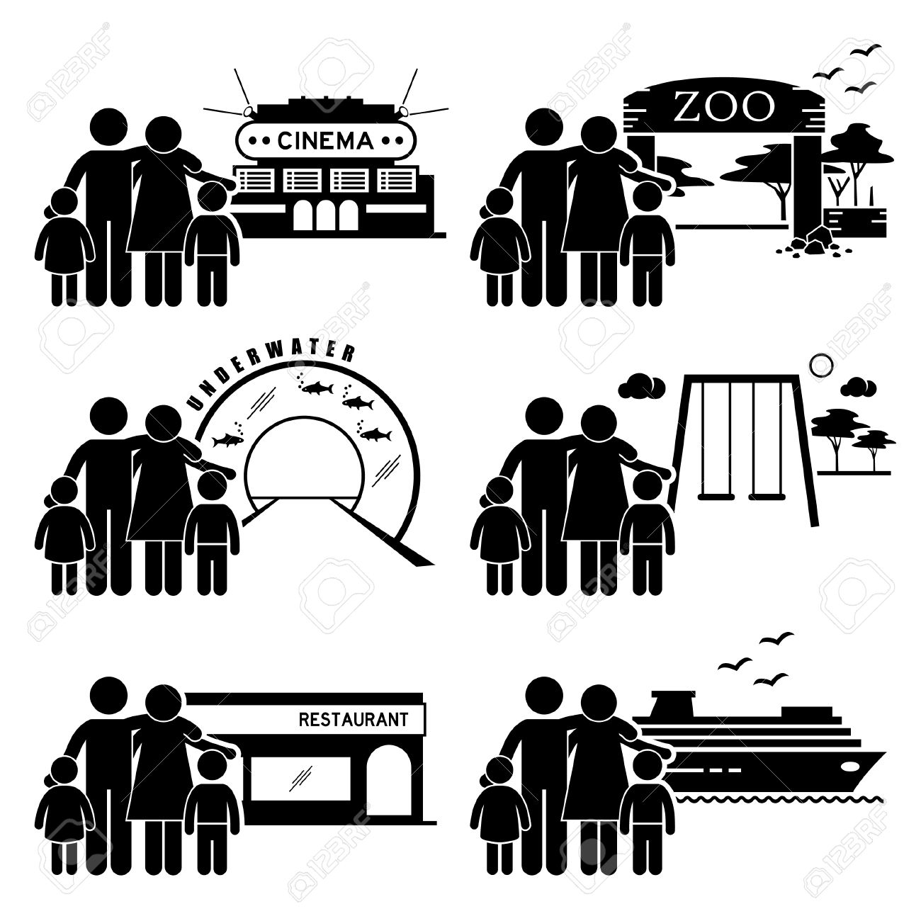 Esszimmer Clipart Stock Photo