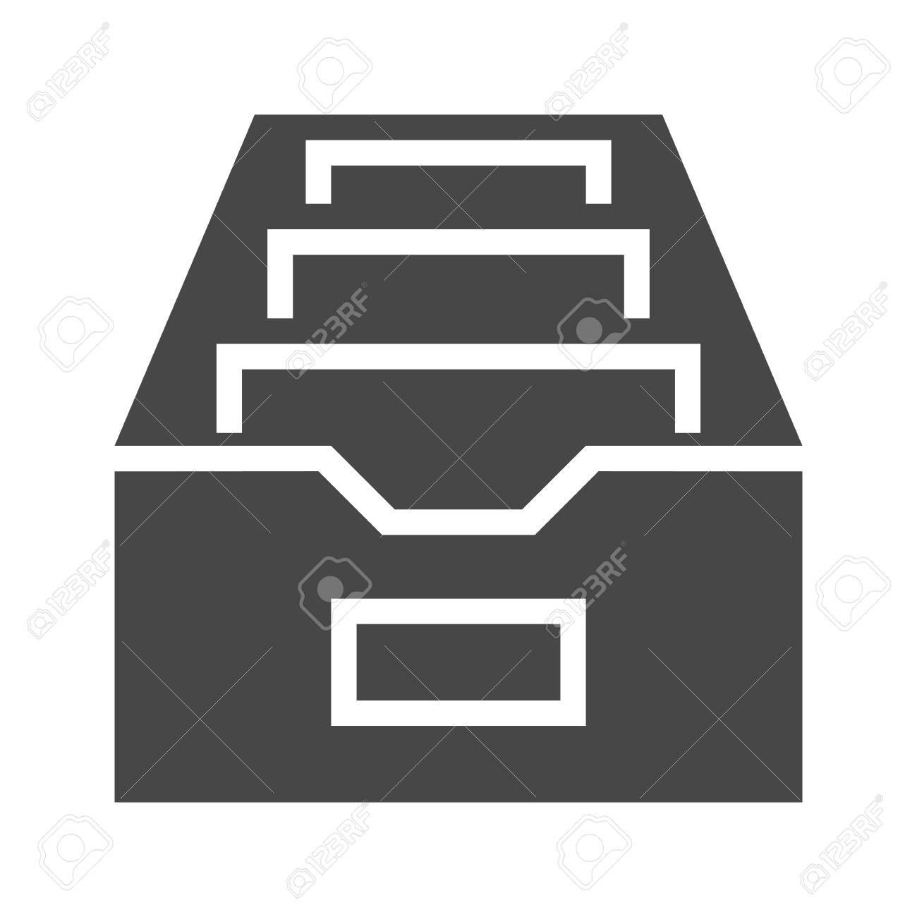 Filing Cabinet Icon Flat File Cabinet Flat Vector Icon Flat Icon Isolated On The White