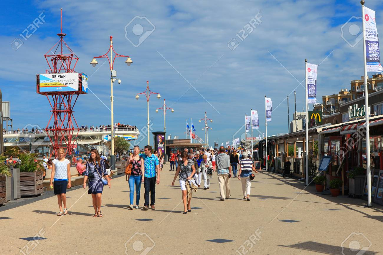 Scheveningen Restaurants Locals And Tourists At Scheveningen S Famous Boardwalk Known