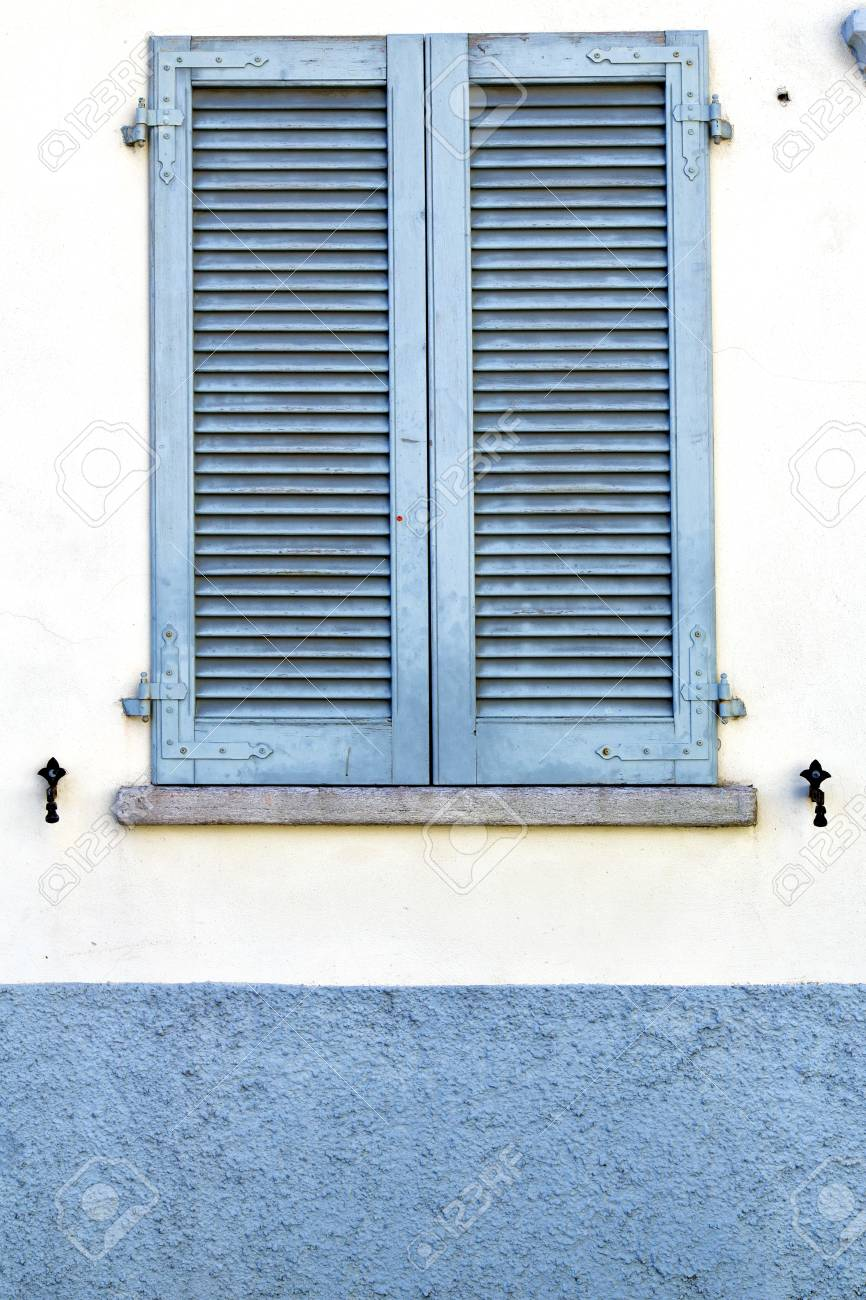 Fenster Jalousie Holz Stock Photo