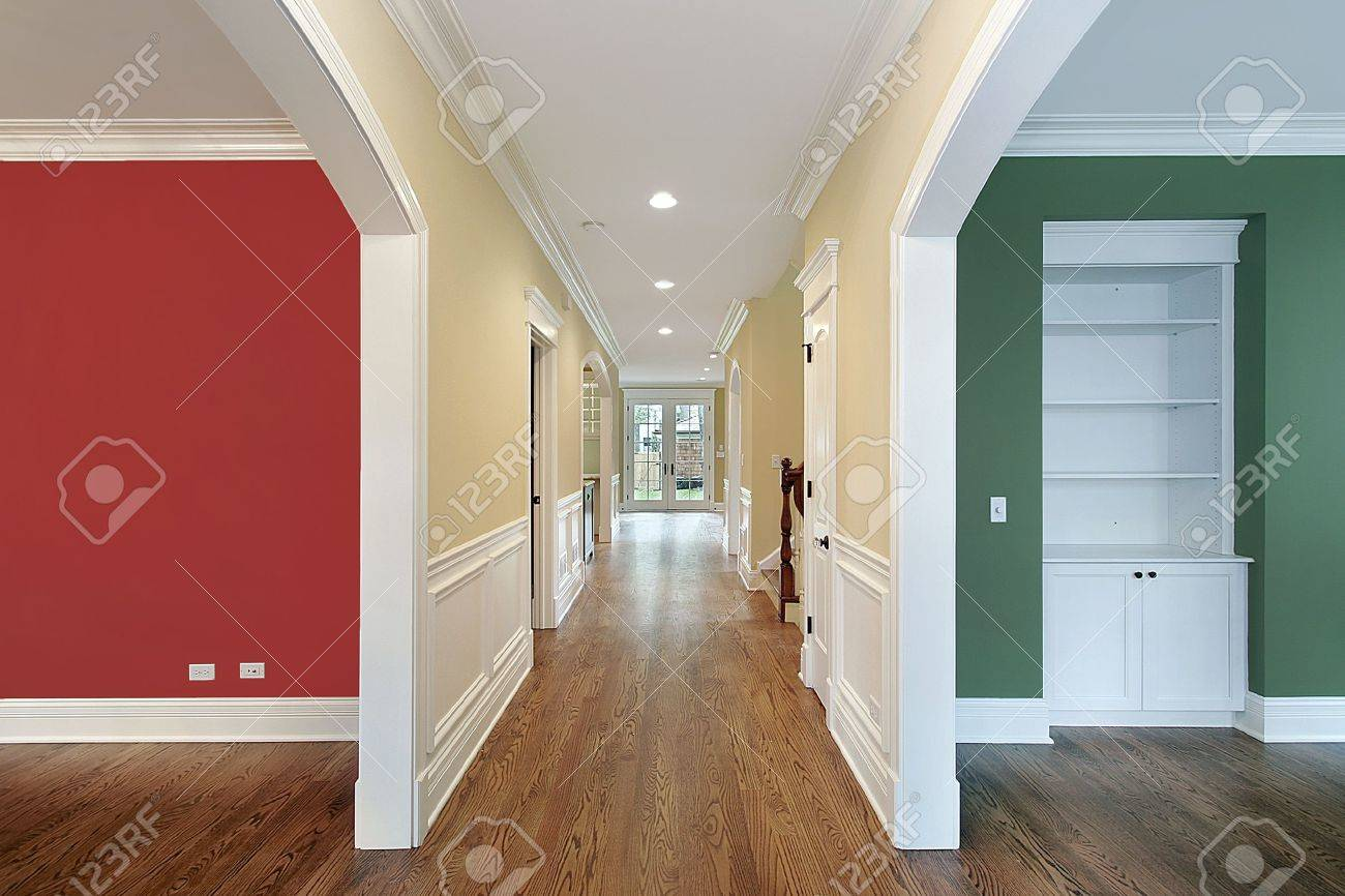 How To Separate A Room Without A Wall Hallway With Multicolored Walls In Separate Rooms