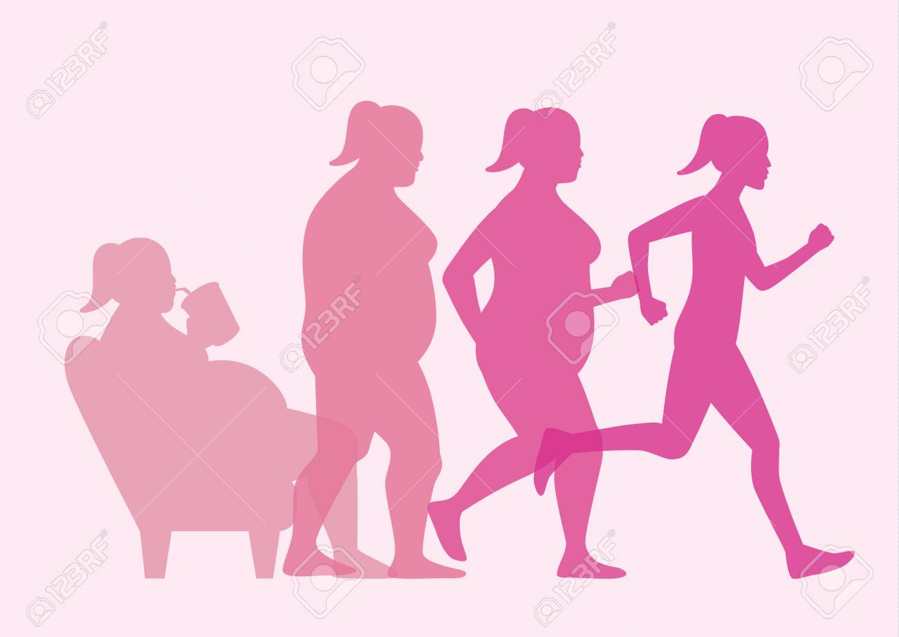 Sofa Workout Fat Woman Stand Up From Sofa For Loss Weight With Jogging This