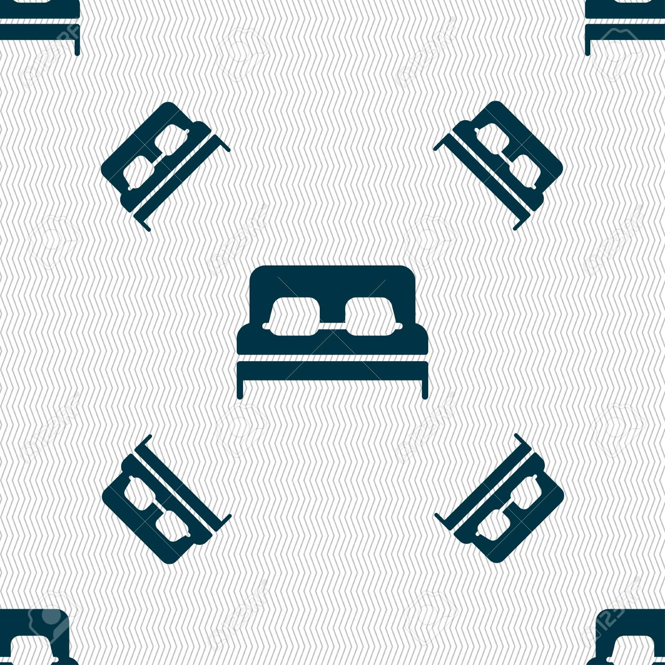 Sofa Texture Vector Sofa Icon Sign Seamless Pattern With Geometric Texture Vector
