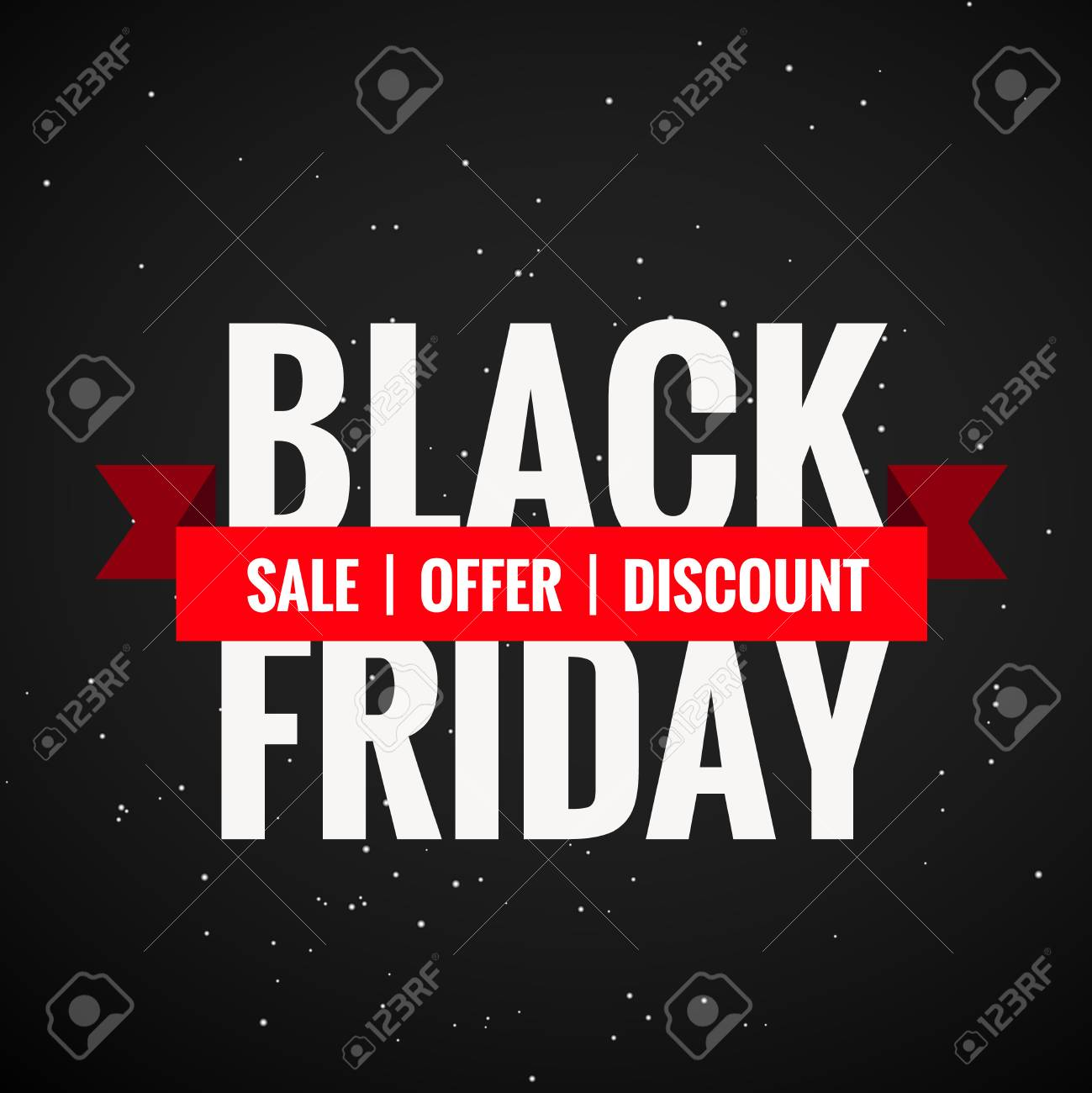 Black Friday Angebot Stock Photo