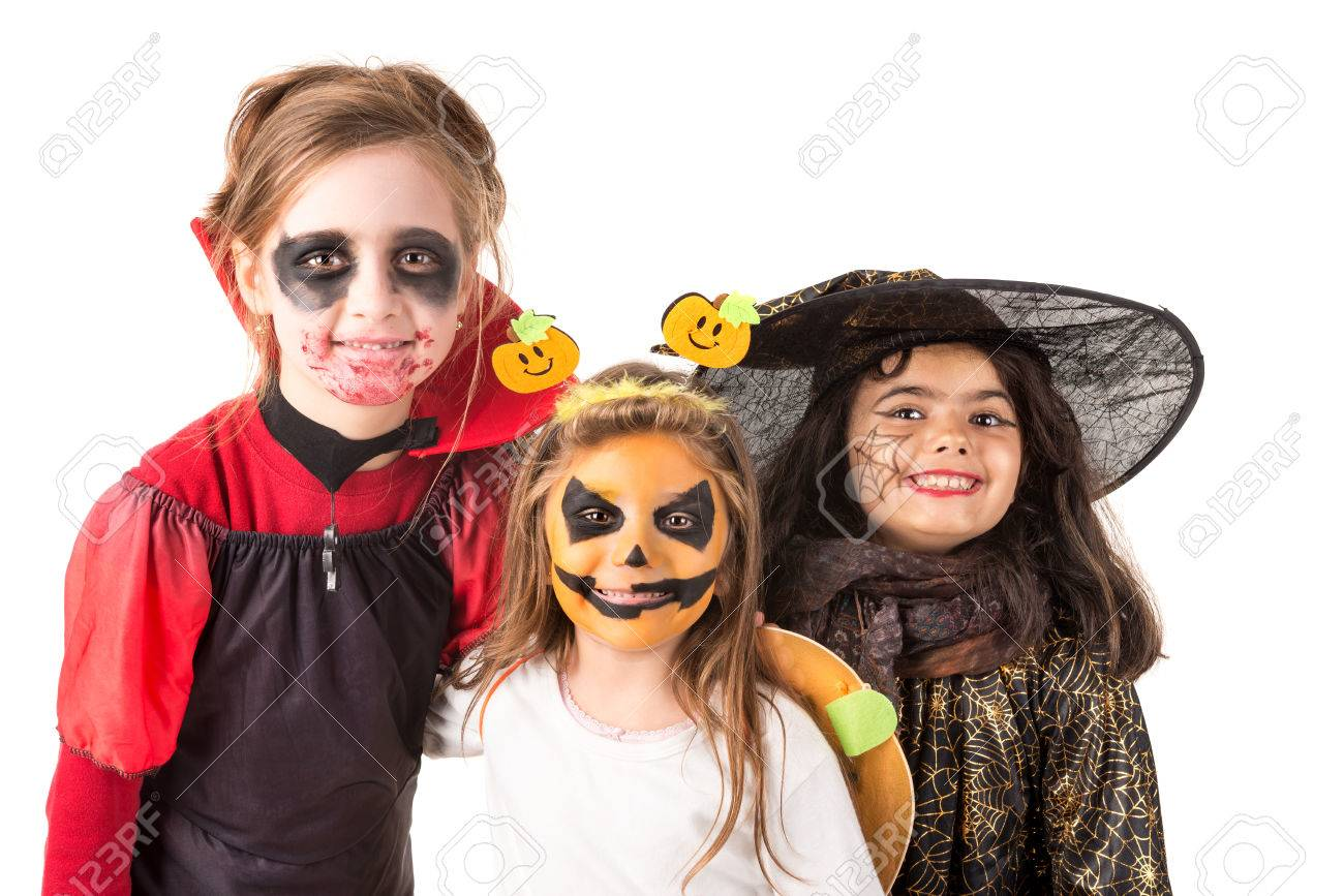 Halloween Gesichtsbemalung Hexe Stock Photo