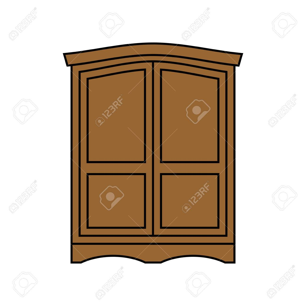 Retro Kleiderschrank Stock Photo