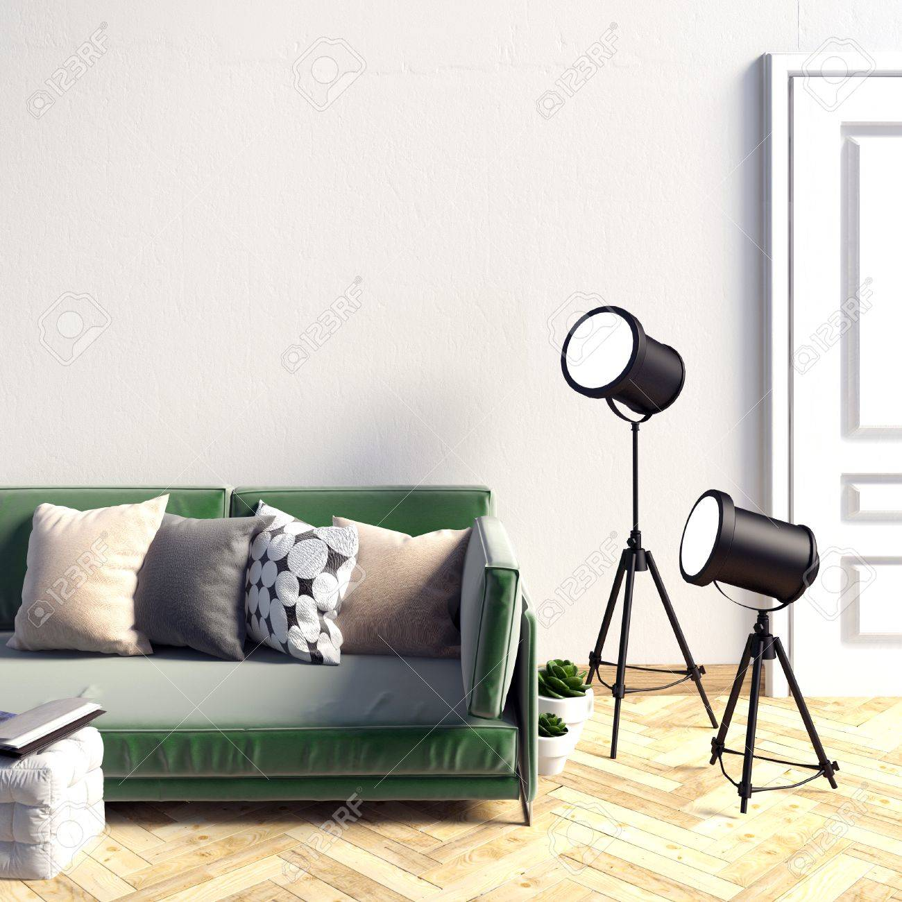 Deluxe Interior Living Illustration Mock Up Wall Living Resting Place Free Living Room Photos Interior Illustration Mock Up Wall living room Free Living Room Photos