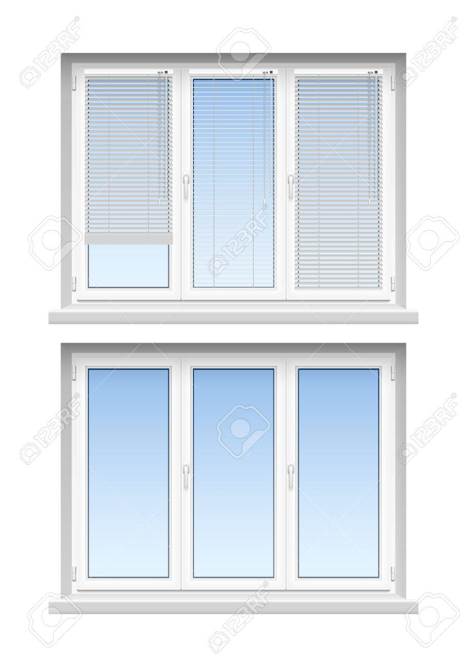 Fenster Lamellen Stock Photo