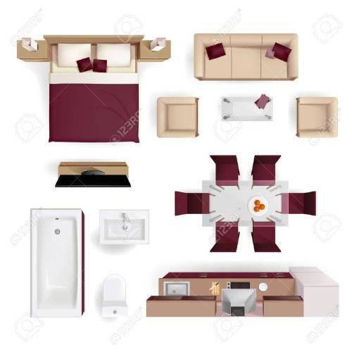 Medium Of Modern Apartment Living Room Design