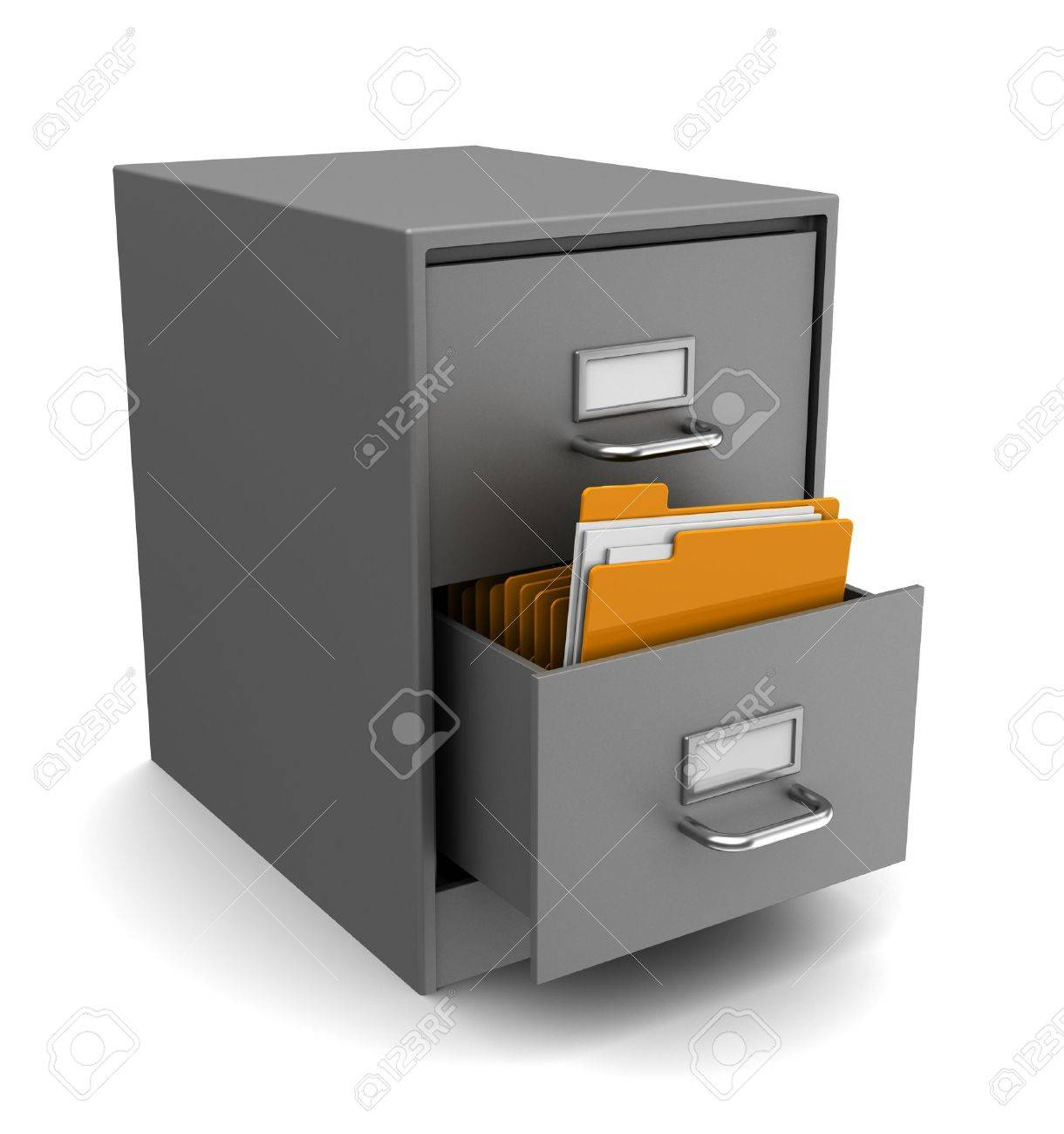 Schrank Ordner Stock Photo