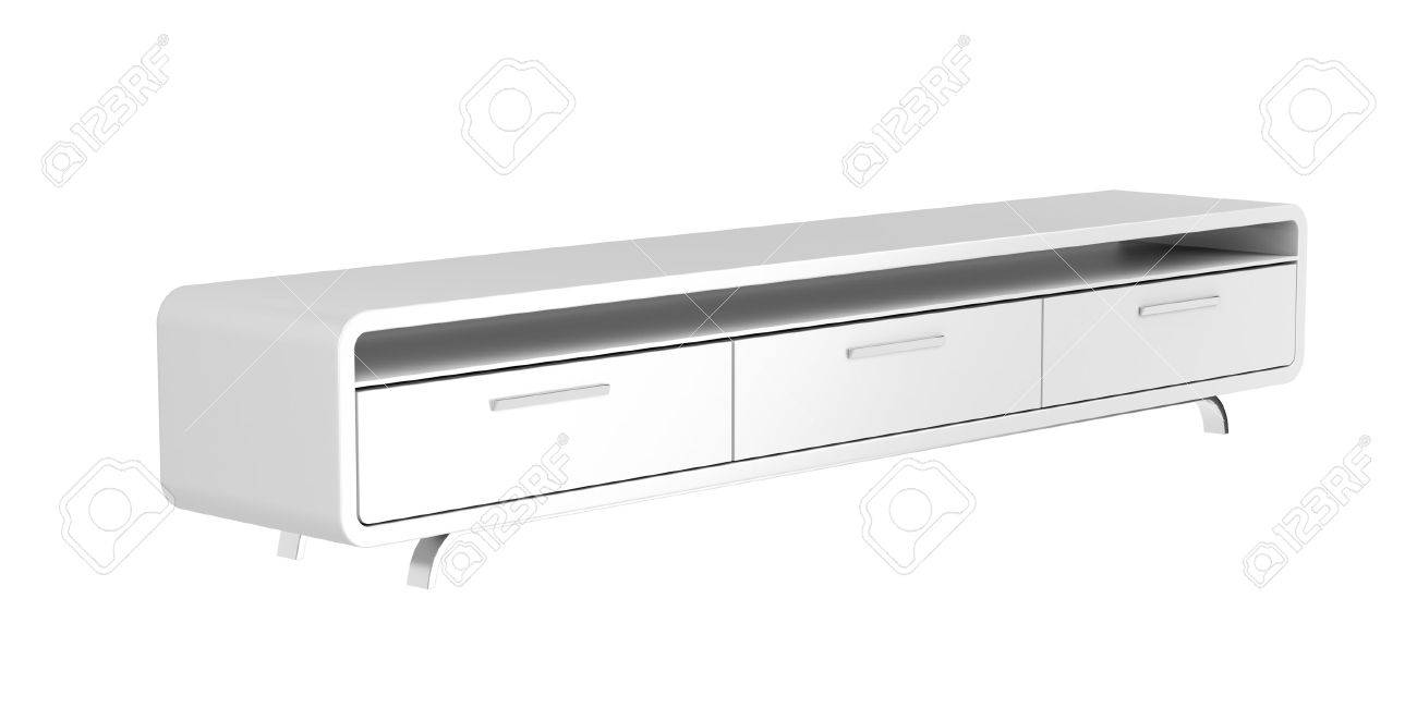 Tv Sideboard Modern Modern Tv Stand Isolated On White Background