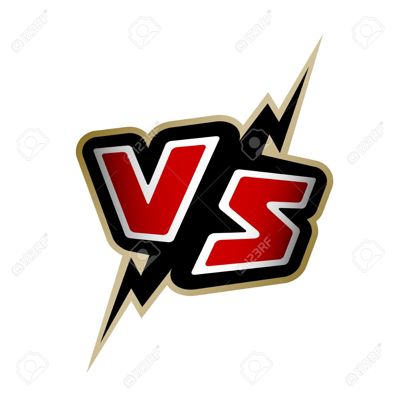 / Vs Versus Letters Vs Logo Vector Illustration