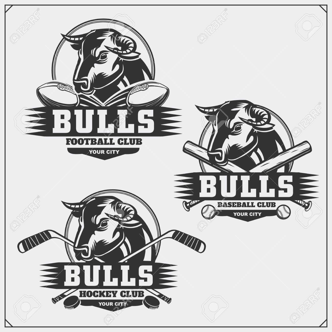 Hockey Logos Football Baseball And Hockey Logos And Labels Sport Club Emblems