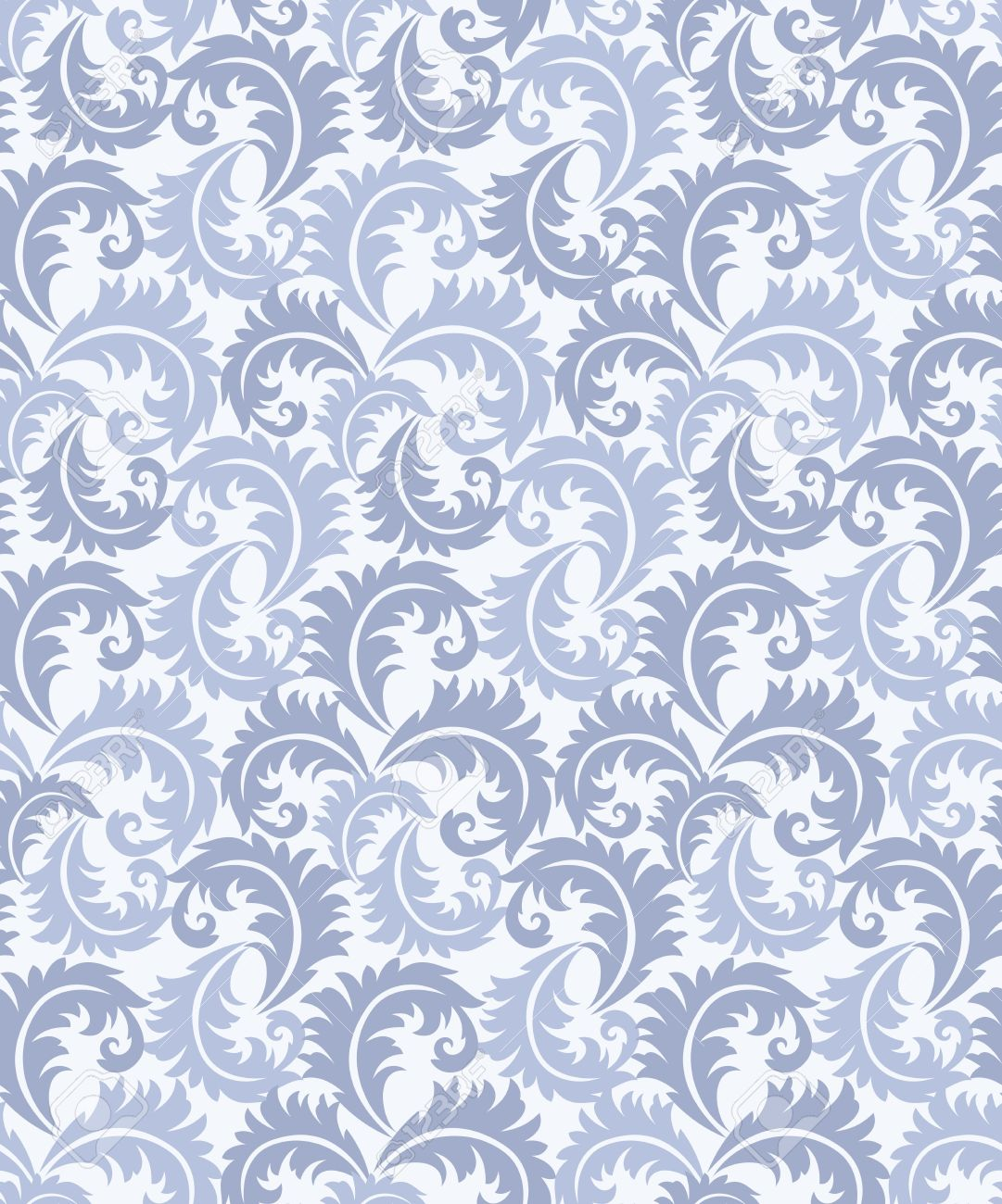 Seamless leaves background for bed sheet stock vector 18213273