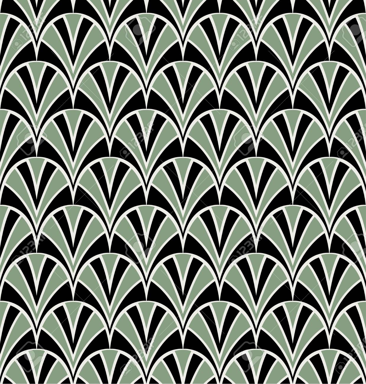 Decoration Art Deco Art Deco Seamless Pattern Background Geometric Decorative Texture