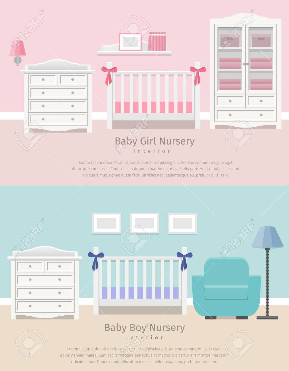 Baby Kinderzimmer Stock Photo