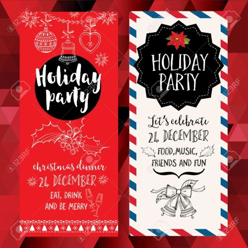 Medium Of Christmas Party Invitation
