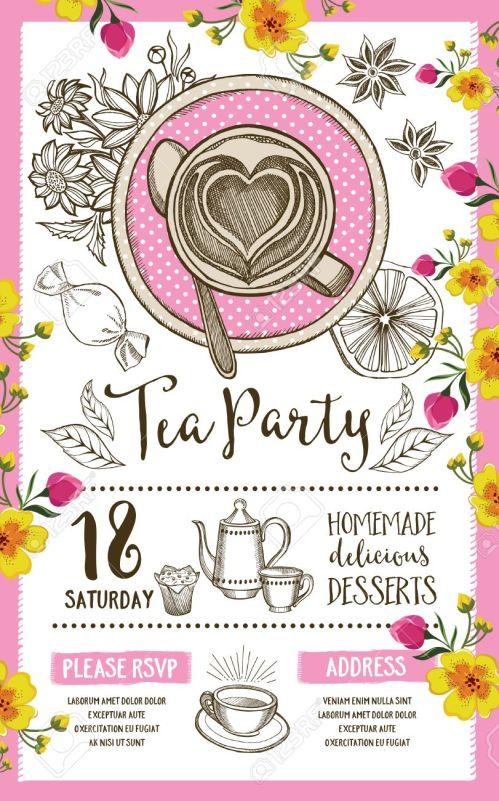 Popular Hand Drawn Graphic Vect Dinner Invitation Template Publisher Dinner Invitation Template Powerpoint 59490172 Tea Party Invitation Template Design Vintage Dinner Invitation