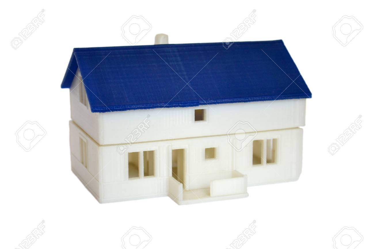 3d Drucker Haus Stock Photo
