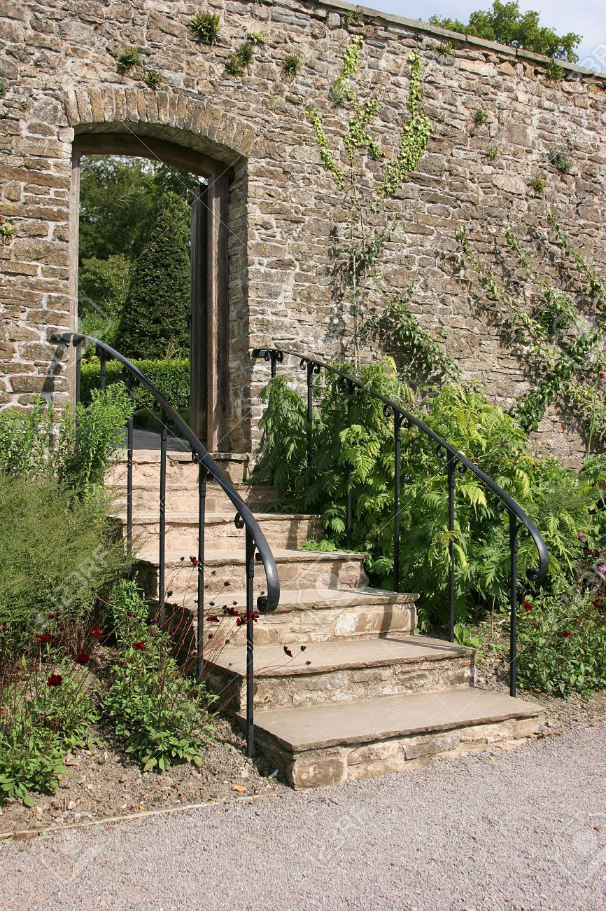Escalier Jardin Stock Photo