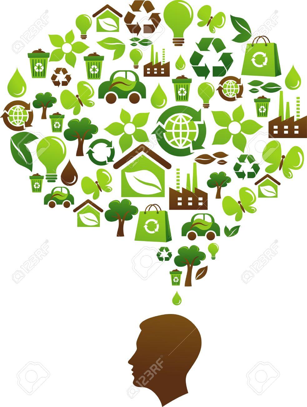 Concept de prise de conscience cologique avec plusieurs ic nes environnementales banque d images 8302471