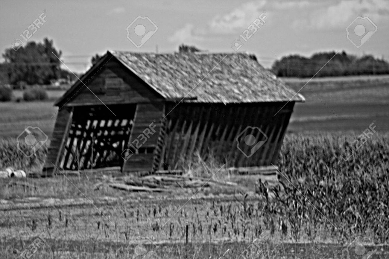 Black And White Old Barn Falling Down Stock Photo Picture And Royalty Free Image Image 3621844